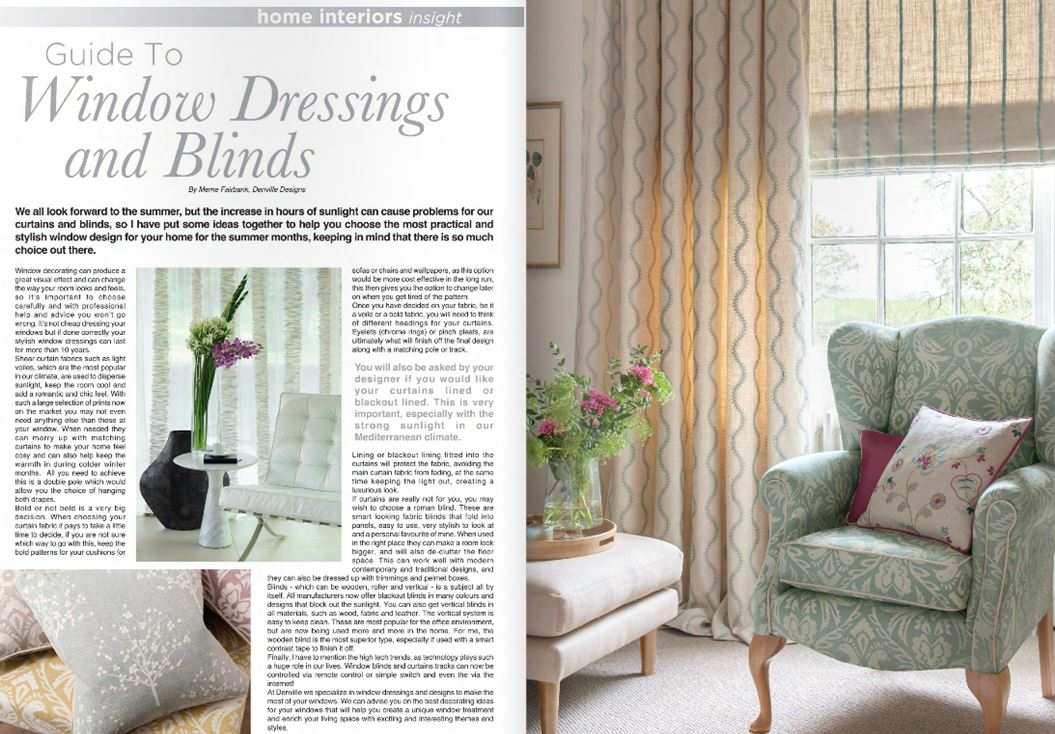 Guide to Window dressings and Blinds