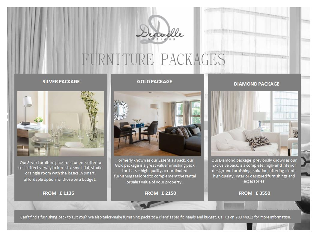 Furniture packages 01. Home Packages   Denville Designs  Gibraltar