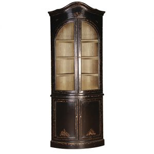 Marvelous Belle Noir Corner Cupboard